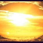 Illustration of Dawn as Seen Through a Lens