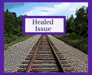 Image of railroad tracks heading towards healing