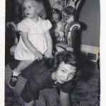 Nancy's Mother Riding her Piggyback - age 2