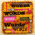 Words, Words, Words - a small beaded art quilt